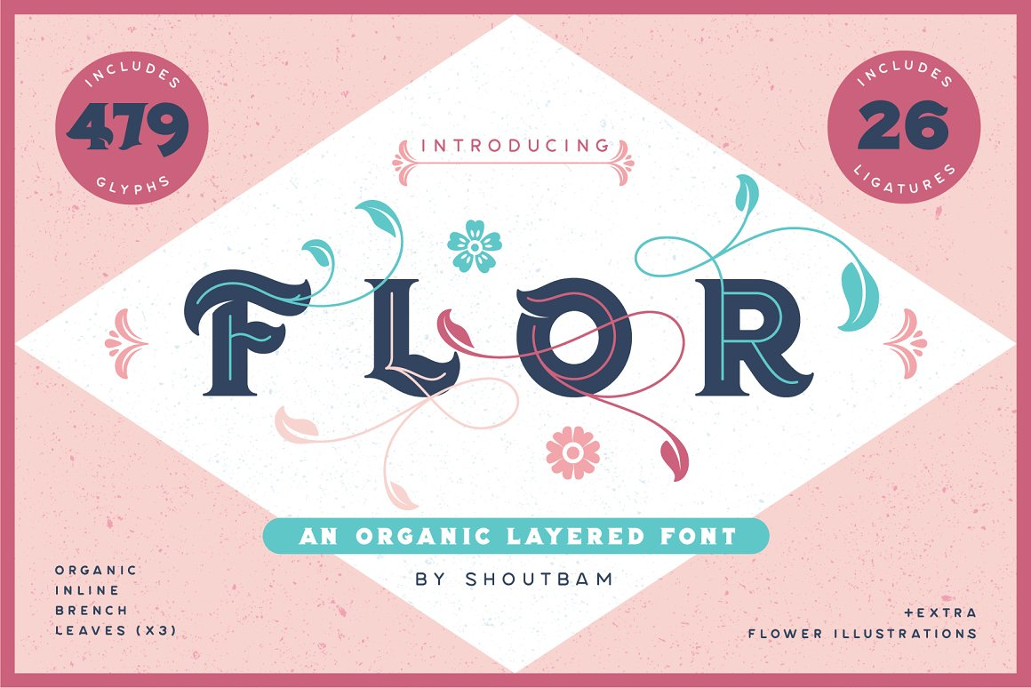 Flor-Layered-Font-Extras