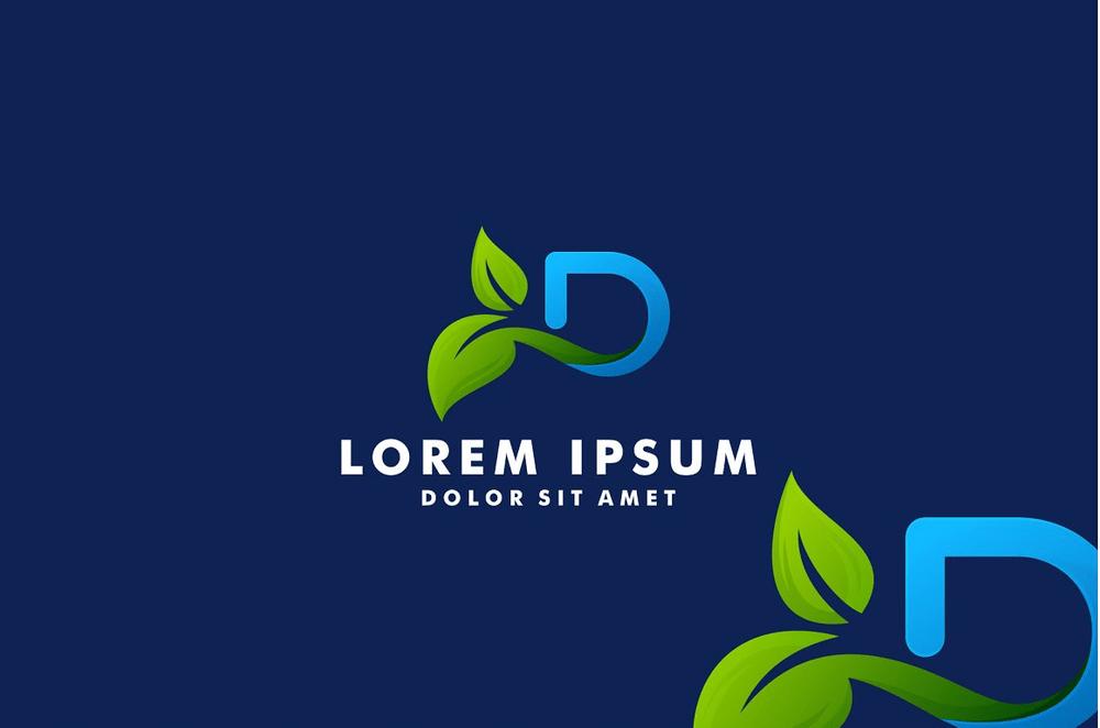 Letter-D-with-leaf-logo-design2