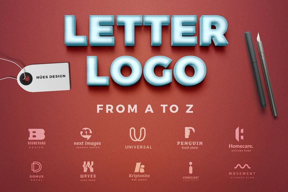 Letter-logos-template-from-a-to-z