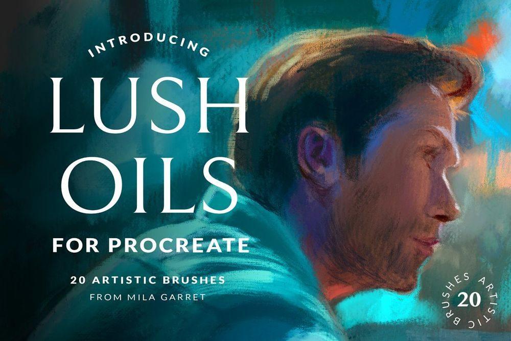 Lush-Oils-Procreate-Painting-Brushes