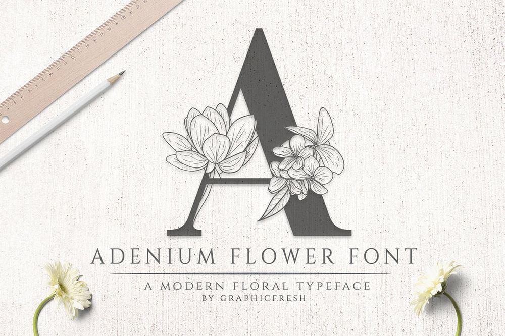 adenium-flower-font