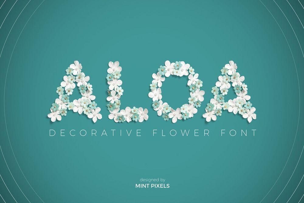 aloa-flower-font