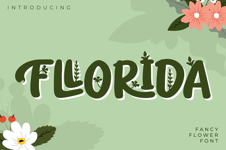 fllorida-fancy-flower-font