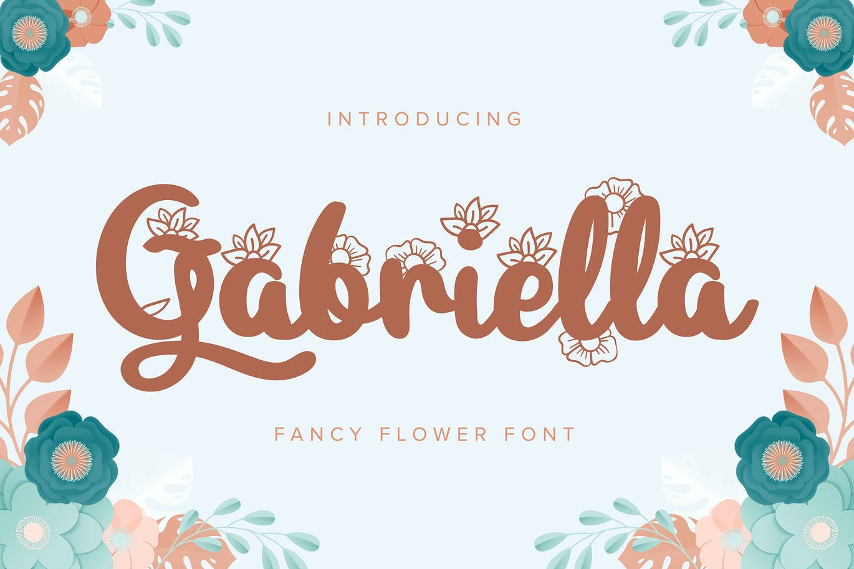 gabriella-fancy-flower-font