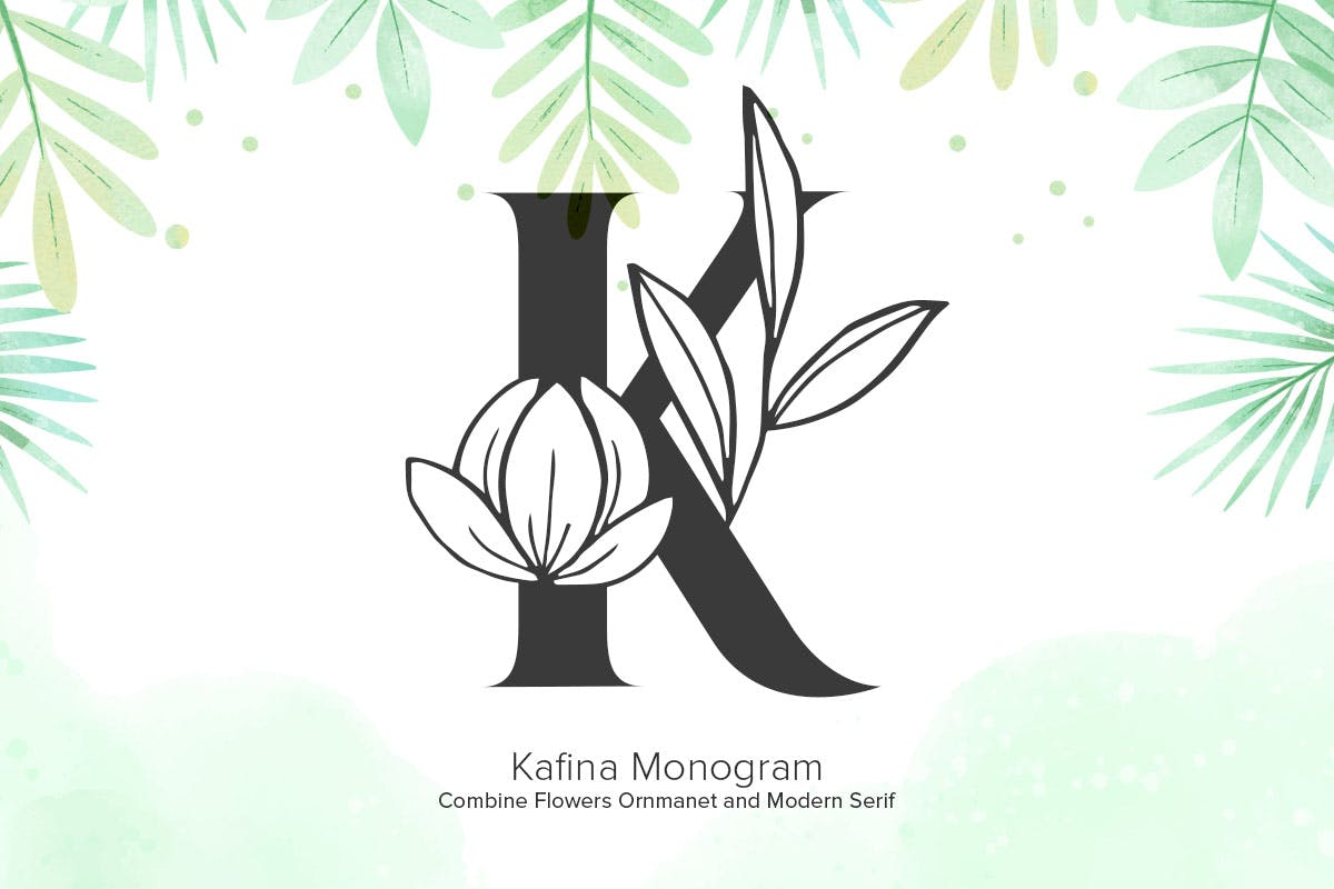 kafina-monogram-fonts