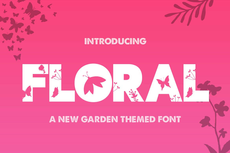 the-floral-font